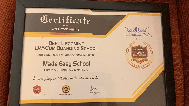 Best Upcoming Day Cum Boarding School Award