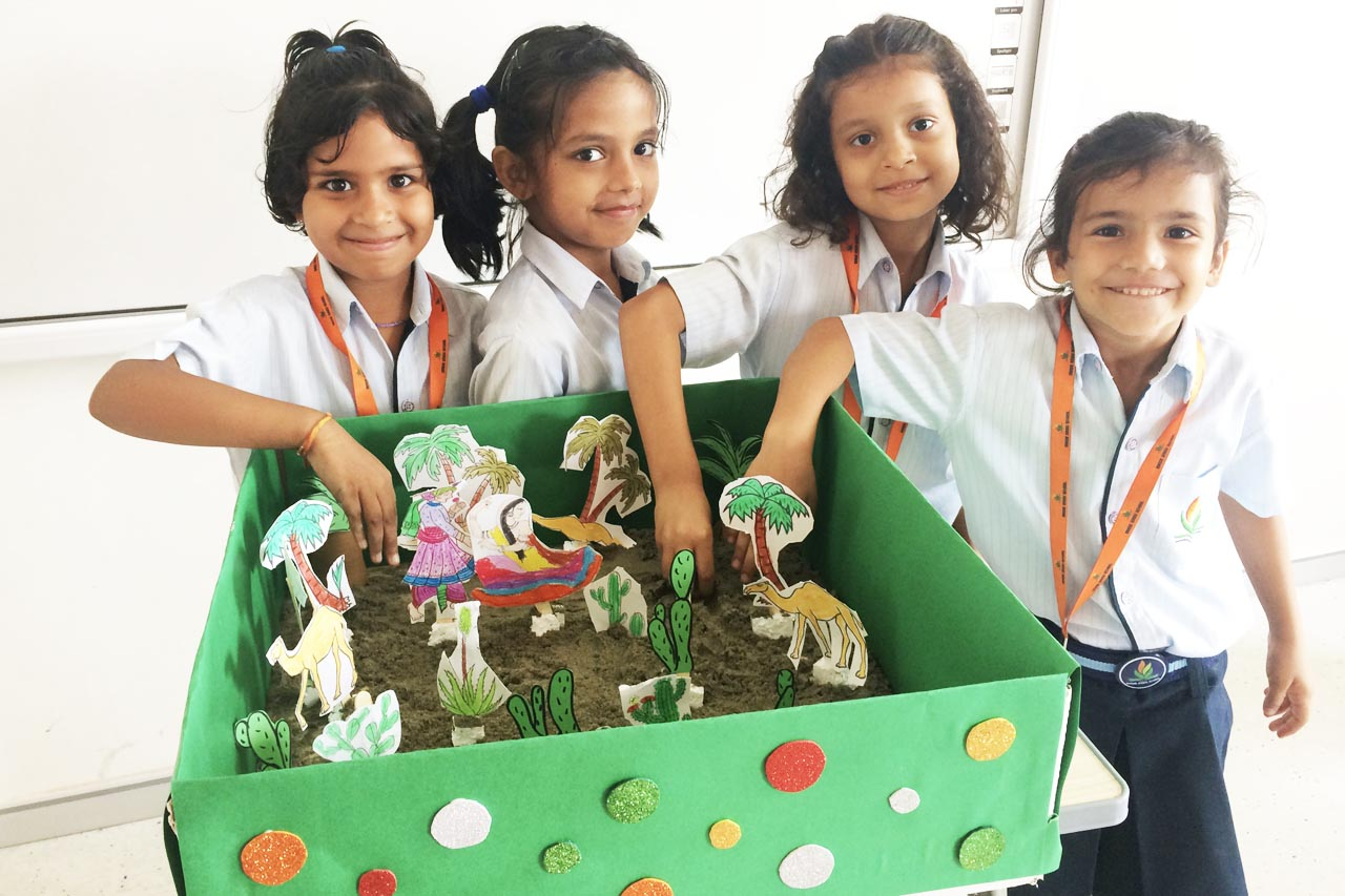 Grade 2 exploring the state of Rajasthan under the theme My Country - India