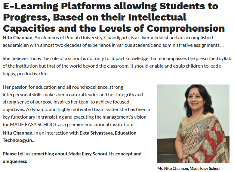 E-Learning Platforms allowing Students to Progress, Based on their Intellectual Capacities and the Levels of Comprehension