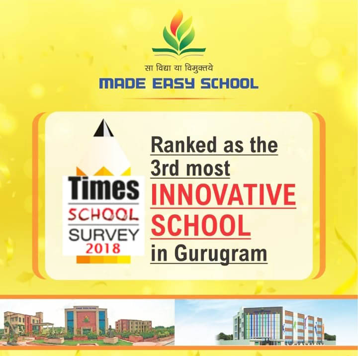 Ranked as the 3rd most Innovative School in Gurugram